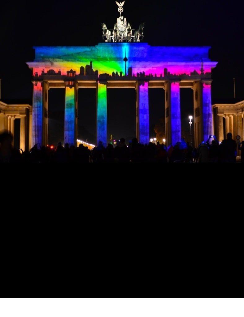 festival of lights at brandenburg gate